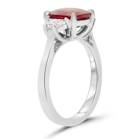 Platinum Ruby Ring (KR5841-2)