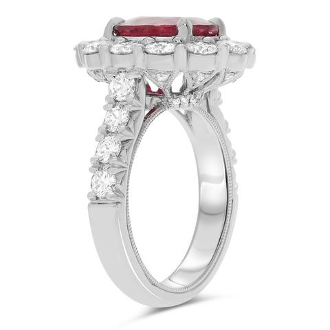 Platinum Ruby Ring (KR5897-1)