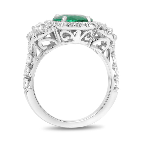 18k White Gold Emerald Ring (KR5921-1)