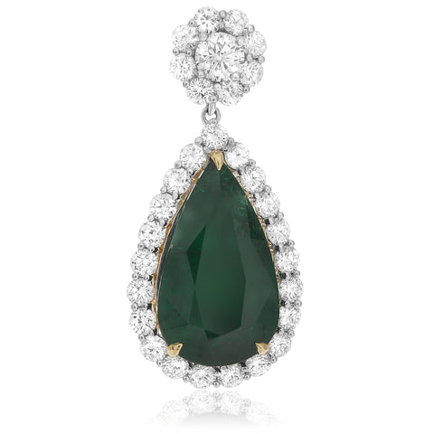 18k White Gold Emerald Earring (ME511-2)