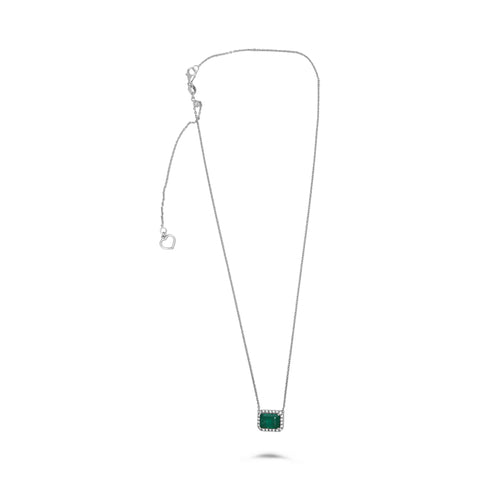 14k White Gold Emerald Necklace (MN807A-4)