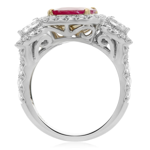 18k White Gold Ruby Ring (MR519-1)