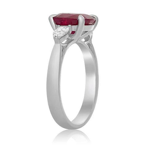 Platinum Ruby Ring (MR564A-13)