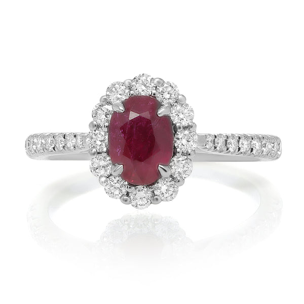 18k White Gold Ruby Ring (MR611-40)