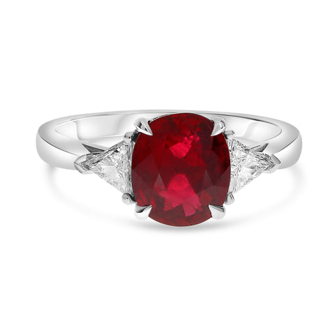 Platinum Ruby Ring (MR632-152)