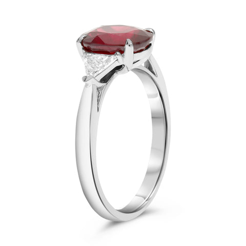 Platinum Ruby Ring (MR632-160)