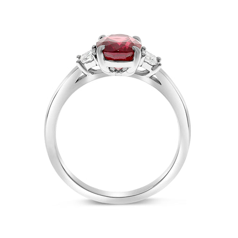 Platinum Ruby Ring (MR632-178)