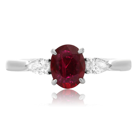 Platinum Ruby Ring (MR632-72)