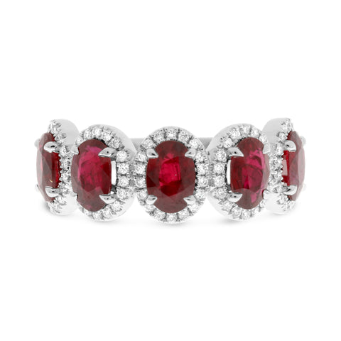 Platinum Ruby Ring (MR773-19)