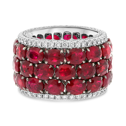 18k White Gold Ruby Ring (MR822-2)