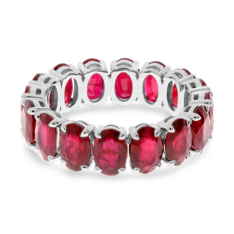 Platinum Ruby Ring (MR909-2)