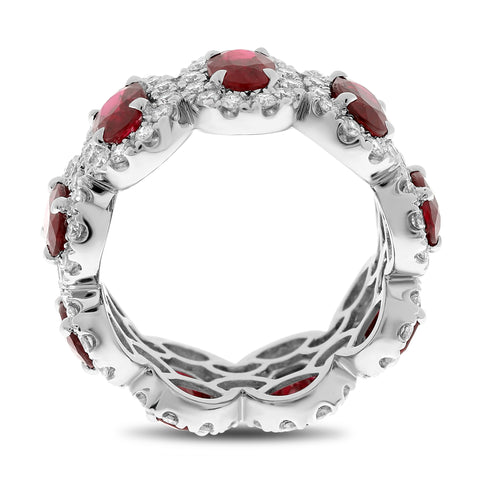 Platinum Ruby Ring (MR910-3)