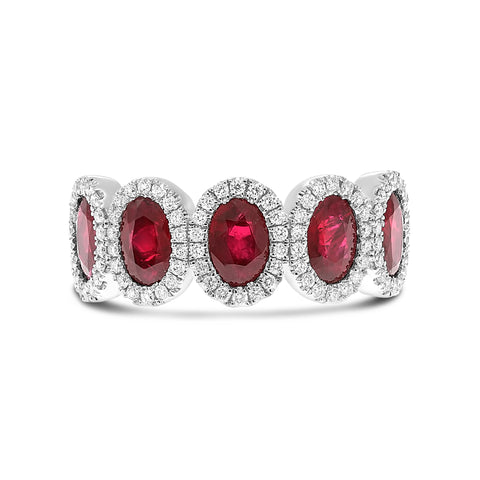 Platinum Ruby Ring (MR955-1)