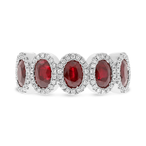 Platinum Ruby Ring (MR955-3)