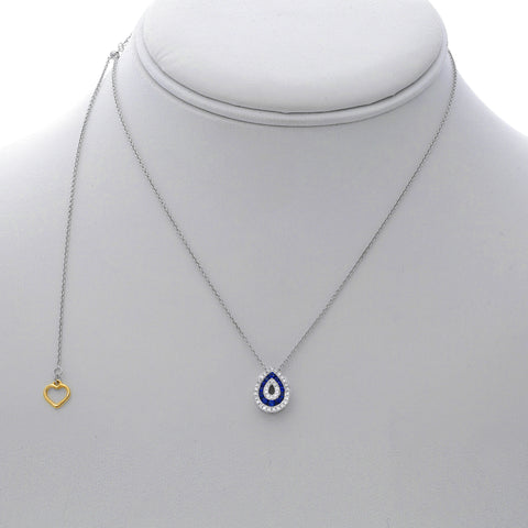 14k White Gold Sapphire Necklace (NN1008-1)