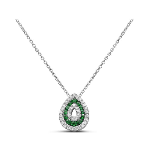14k White Gold Tsavorite Necklace (NN1008-3)
