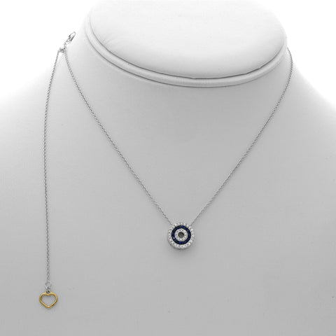 14k White Gold Sapphire Necklace (NN1010-1)