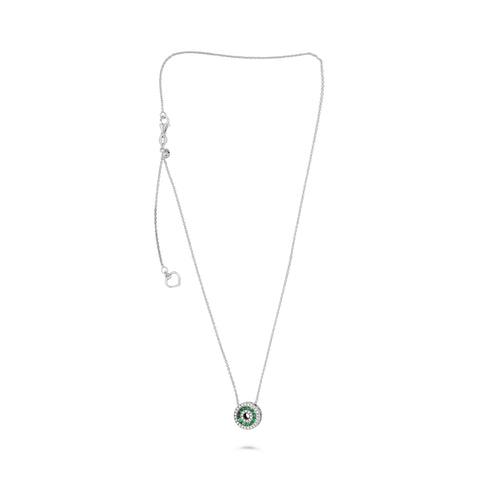 14k White Gold Tsavorite Necklace (NN1010-3)