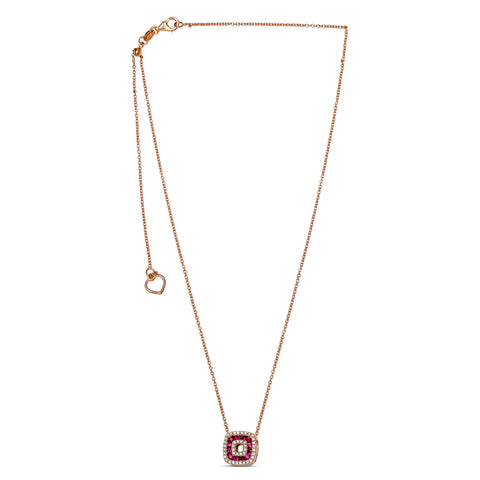 14k Rose Gold Ruby Necklace (NN1011-2)