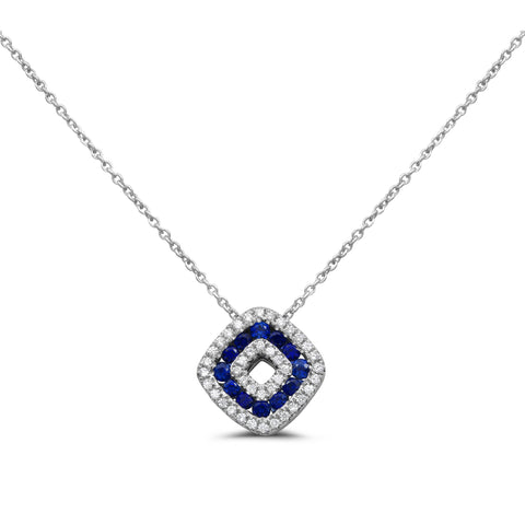 14k White Gold Sapphire Necklace (NN1011A-1)