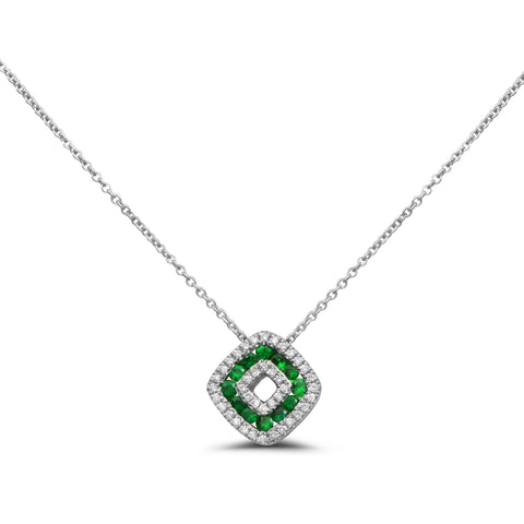 14k White Gold Tsavorite Necklace (NN1011A-3)