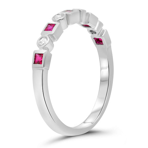 14k White Gold Ruby Ring (NR1030-2)