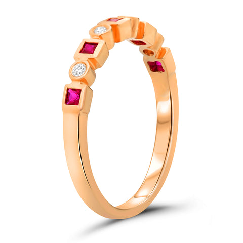 14k Rose Gold Ruby Ring (NR1030-3)