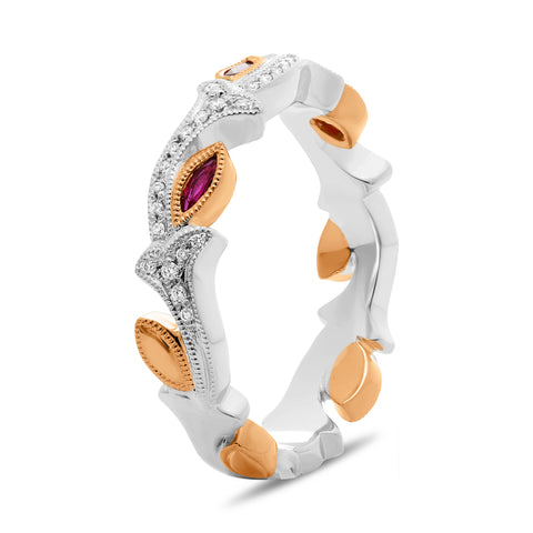 14k White Gold Ruby Ring (NR1049-1)