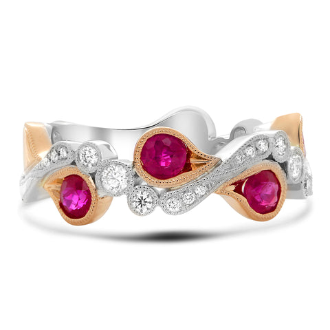 14k White Gold Ruby Ring (NR1051-1)