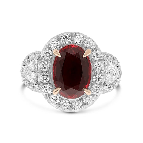 Platinum Ruby Ring (NR1083-2)