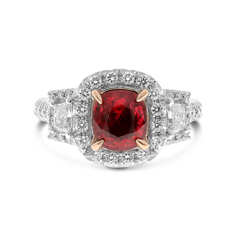 Platinum Ruby Ring (NR1083A-1)