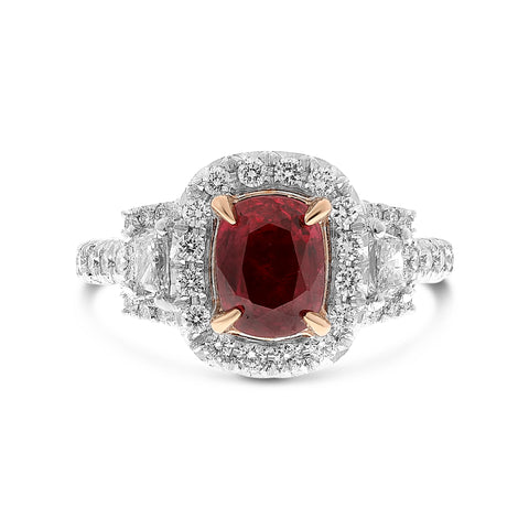Platinum Ruby Ring (NR1083A-2)