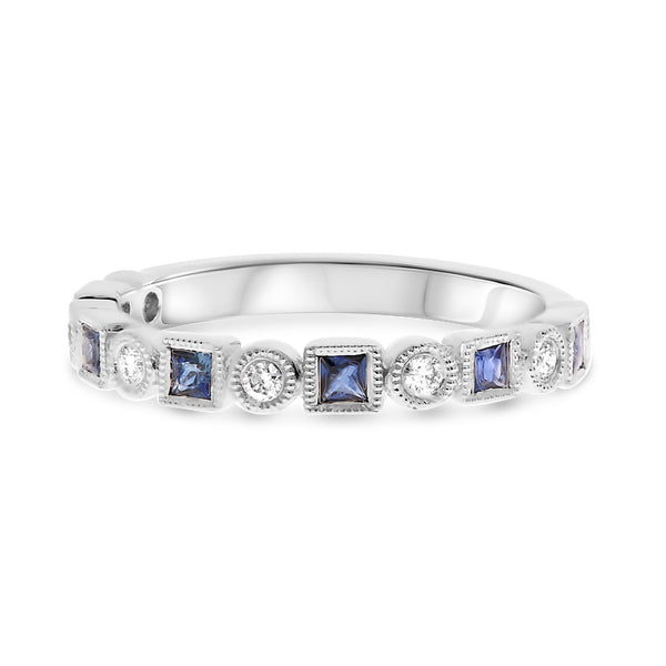 14k White Gold Sapphire Ring (NR1101A-1)