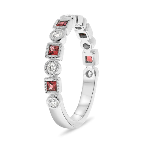 14k White Gold Ruby Ring (NR1101A-2)