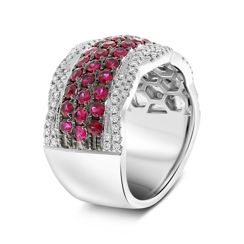 14k White Gold Ruby Ring (NR1140-4)