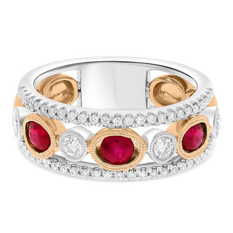 14k White Gold Ruby Ring (NR1150-1)