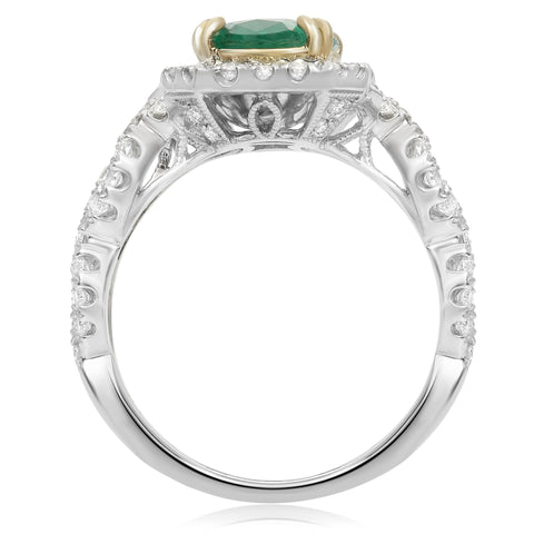 14k White Gold Emerald Ring (NR491WYEM)