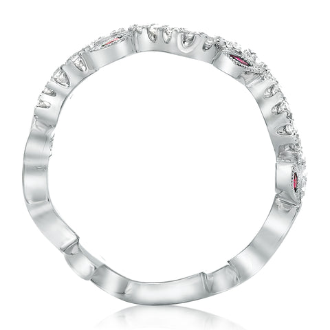 14k White Gold Ruby Ring (NR605-5)