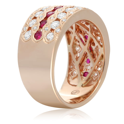 14k Rose Gold Ruby Ring (NR982-3)