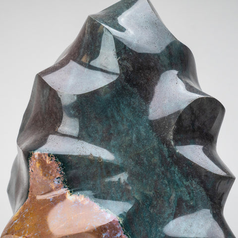 Polished Polychrome Flame Freeform from Madagascar (19 lbs)