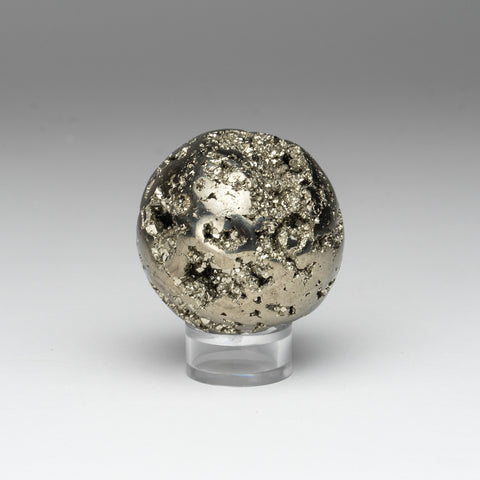 "Polished Pyrite Sphere from Peru (2"", 217.6 grams)"