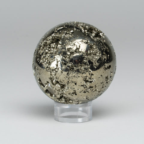 "Polished Pyrite Sphere from Peru (2.25"", 320 grams)"