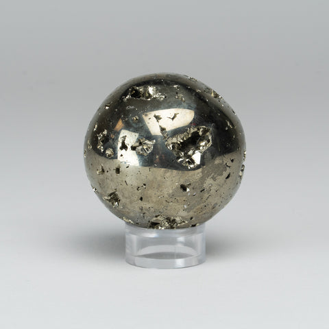 "Polished Pyrite Sphere from Peru (2"", 299 grams)"