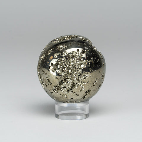 "Polished Pyrite Sphere from Peru (2"", 276.3 grams)"