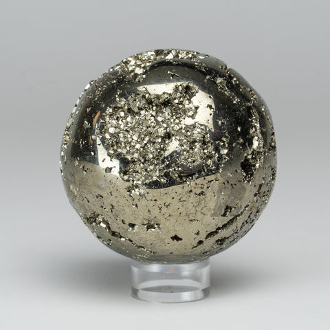 "Polished Pyrite Sphere from Peru (2.75"", 1.3 lb)"