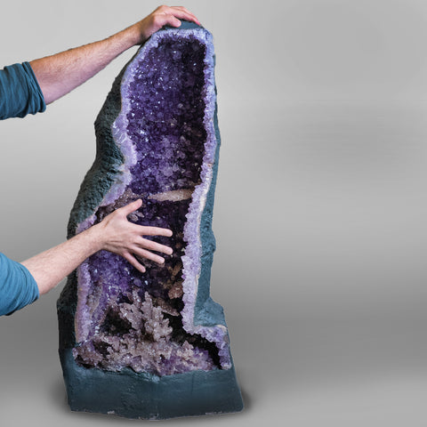 Large Amethyst Cluster Geode From Brazil (41.5 Inches)
