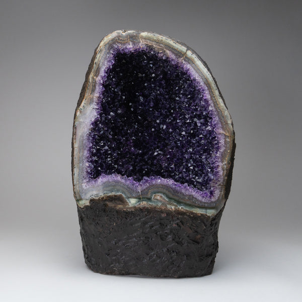 Amethyst Cluster Geode with Calcite From Brazil (15'' 42 lbs)