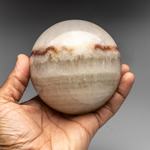 Polished Natural Banded Onyx Sphere from Mexico (1.8 lbs)