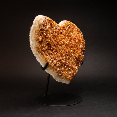 Citrine Cluster Heart on Stand from Uruguay (9.5 lbs)