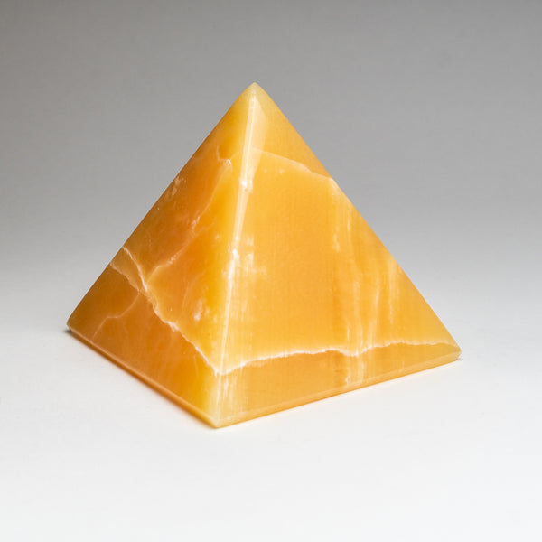 Polished Orange Calcite Pyramid from Mexico (7.2 lbs)